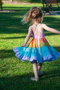 Rainbow Tiered Camilla Dress | The Simple Life Company