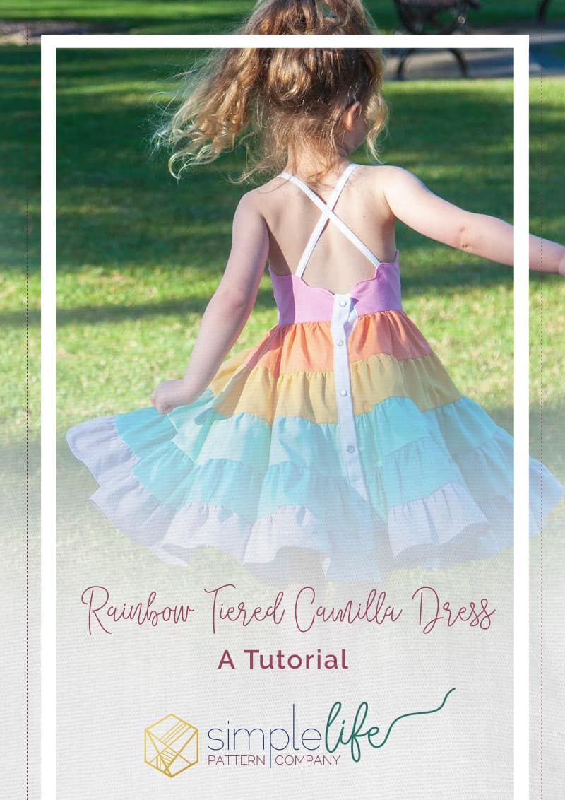 Rainbow Tiered Camilla Dress | The Simple Life Company