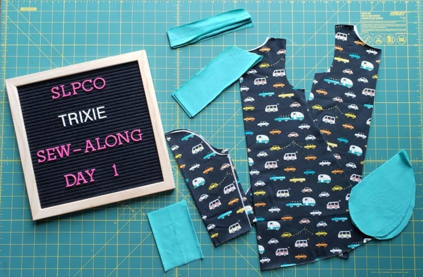 Trixie Sew-Along Day 1 Progress