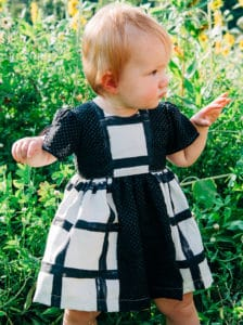 Simple Life Pattern Company | Geneva's Vintage Bow Dress. Downloadable PDF Sewing Patterns. Geneva's Vintage Bow Dress is a stylish dress with the most beautiful vintage feel. Whether you are looking for an everyday dress or something more fancy for a special occasion this pattern will be a staple in your stash.
