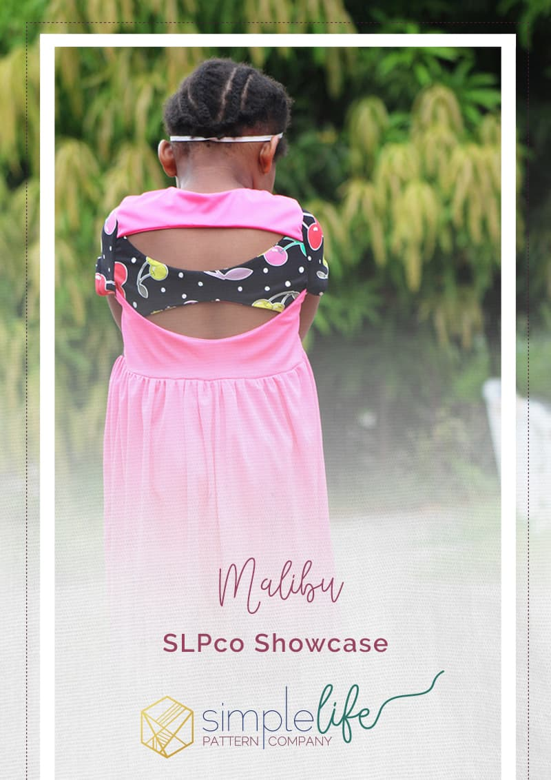Simple Life Pattern Company | Malibu Twist and Bow Back Tunic and Dress. Pattern Showcase.