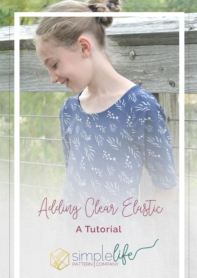 Simple Life Pattern Company | Adding Clear Elastic to your Bodice. I'm on the blog today to talk about clear elastic. If you like sewing with knits, you need to know about this little notion! It works to help stabilize seams. You can use it in shoulder seams and bodice seams.