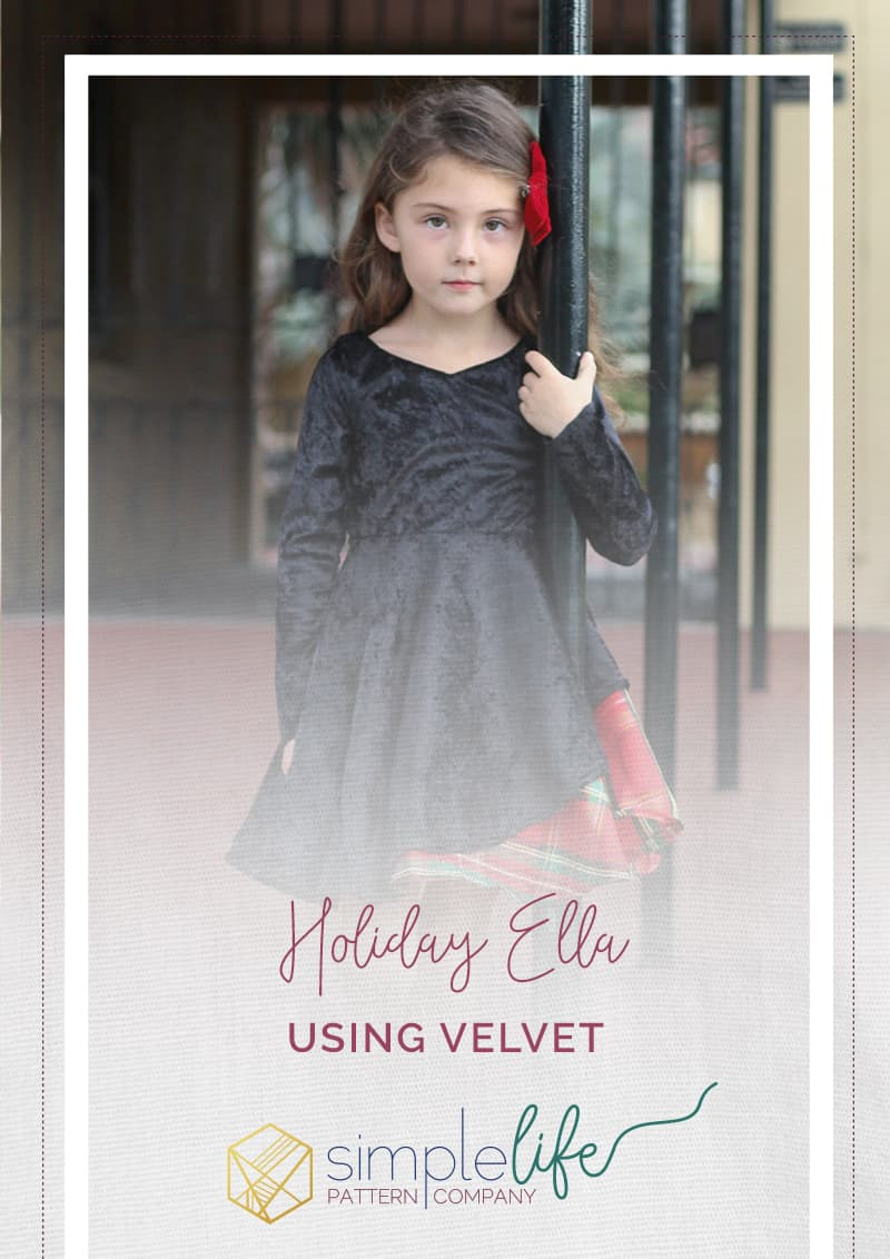simple life pattern company downloadable pdf sewing patterns for baby girls tween and women. Holiday velvet ella asymmetrical dress with long sleeves Upcycled plaid table cloth into a gorgeous circle skirt dress. Open tie back knit dress.